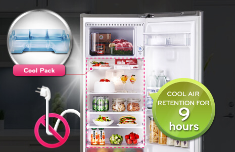 Evercool™ - EverCool feature retains cool air for 9 hours  in fridge section during power cut.